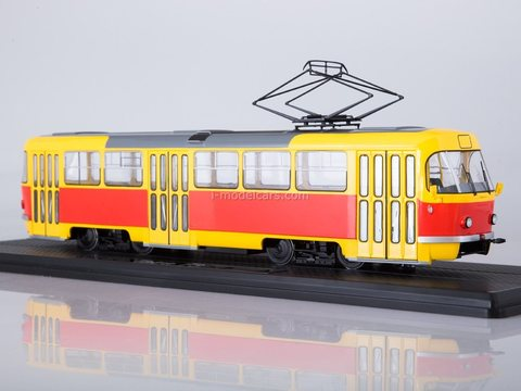 Tram Tatra T3SU bright-yellow-red 1:43 Start Scale Models (SSM)
