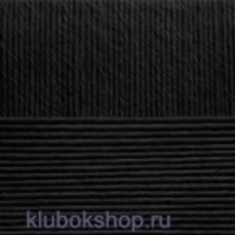 Пряжа Элегантная (Пехорка) 02 Черный - купить в интернет-магазине недорого klubokshop.ru