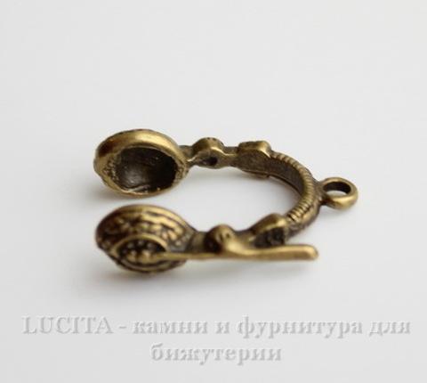 """Подвеска """"Наушники"""" (цвет - античная бронза) 26х19 мм"""