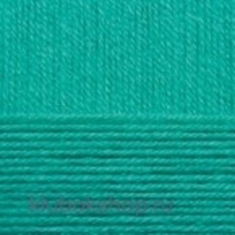Пряжа Детская объемная (100 г/ моток) Пехорка 581 Св. изумруд - купить в интернет-магазине недорого klubokshop.ru