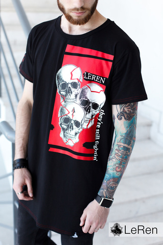 Футболка LeRen Fight Skull Black