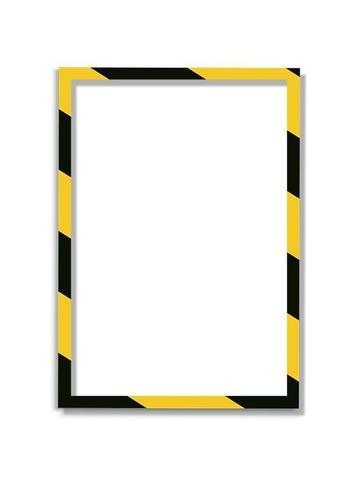 Магнитная  рамка А4, желто-черная, 5шт/уп