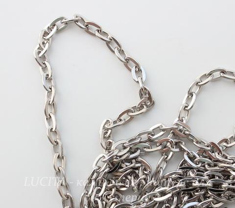 Цепь (цвет - античное серебро) 5х3 мм, примерно 5 м