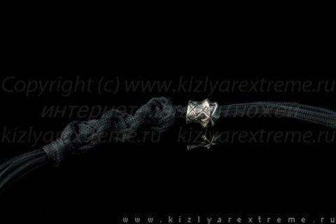 Черный спиральный темляк