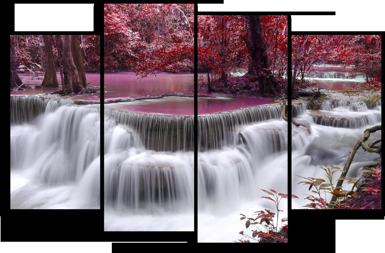 """Природа Модульная картина """"Красный водопад"""" М943.png"""