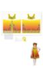 Городецкая роспись сарафан - накидка для девочки Осень ( комплект для пошива )