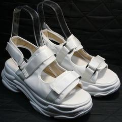 Босоножки в спортивном стиле женские Small Swan PM23-3 White.