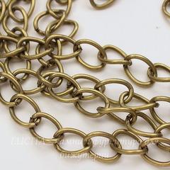 Цепь (цвет - античная бронза) 15х11 мм, примерно 2 м