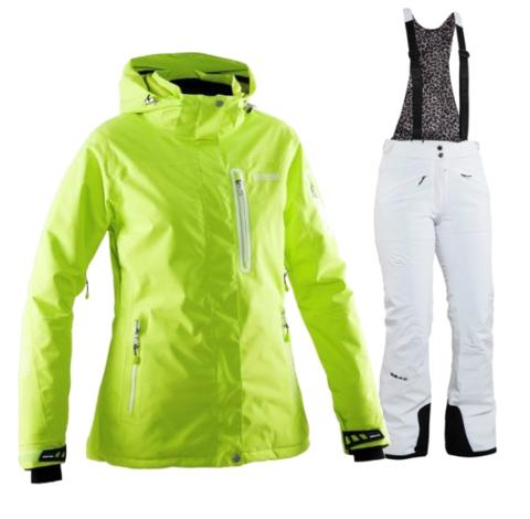 Женский горнолыжный костюм  8848 Altitude Aruba/Poppy (lime/white)