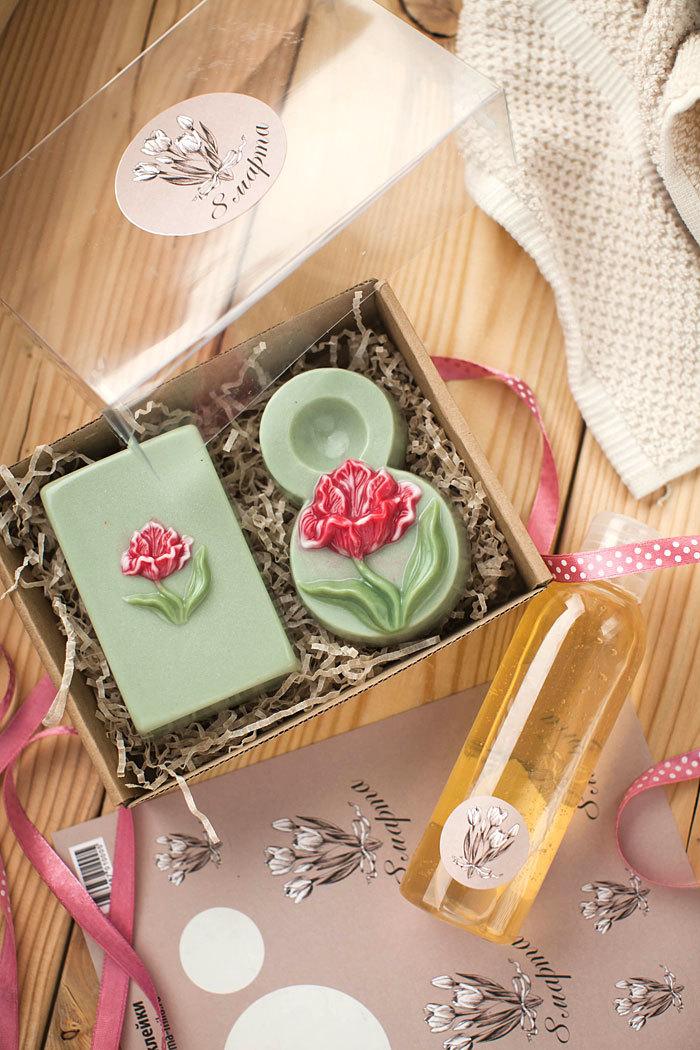Подарок на 8 марта. Сделать самому мыло в виде тюльпана