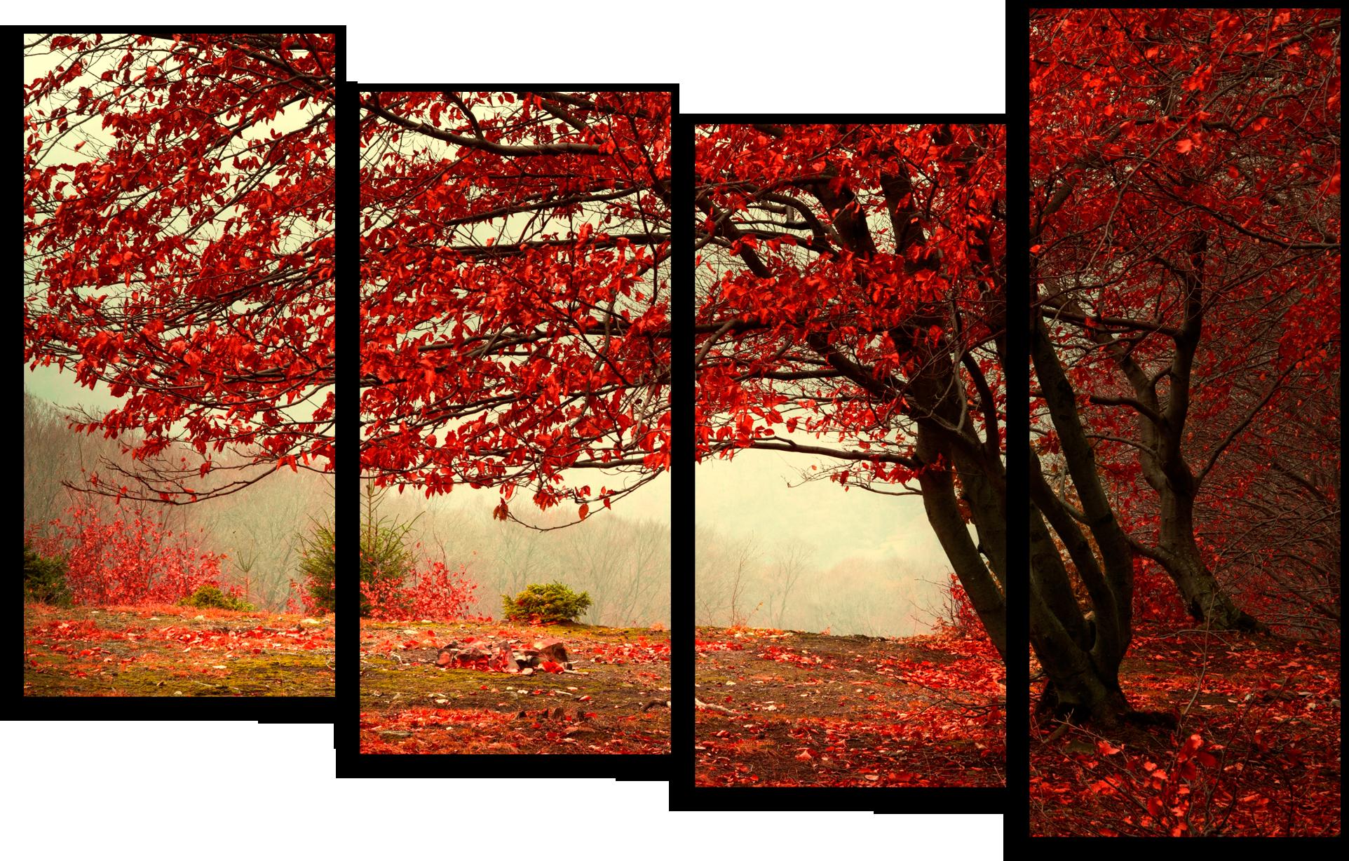 """Природа Модульная картина """"Красный листопад"""" М5.png"""