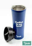 Автокружка el Gusto «Coffee is my lover» blue