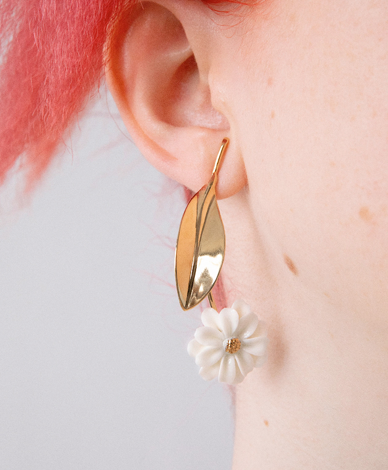 Серьги DAISY STEM GOLD