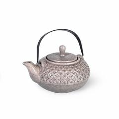 Чайник заварочный 800мл с ситечком, цвет Серый песочный (керамика)