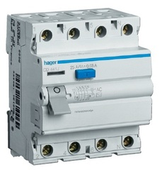 Устройство защитного отключения 4P 80A/300mA-A S,6kA