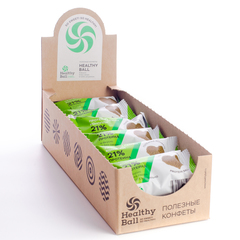 Набор полезных конфет Protein Ball. Протеин семян конопли (12 упаковок по 2 конфеты)