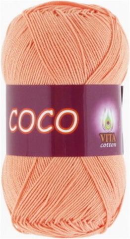 Пряжа Coco (Vita cotton) 3883 Персиковый