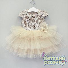 Платье 74-92 (пайетки, брошь, сетка)