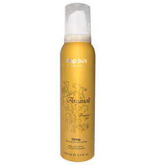 Мусс для укладки волос сильной фиксации с маслом арганы,150 мл.
