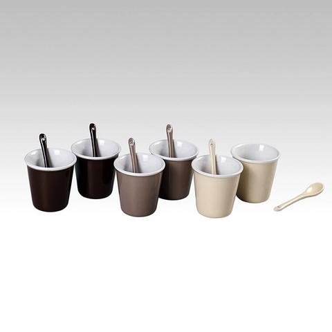 Набор кофейных стаканов с ложками