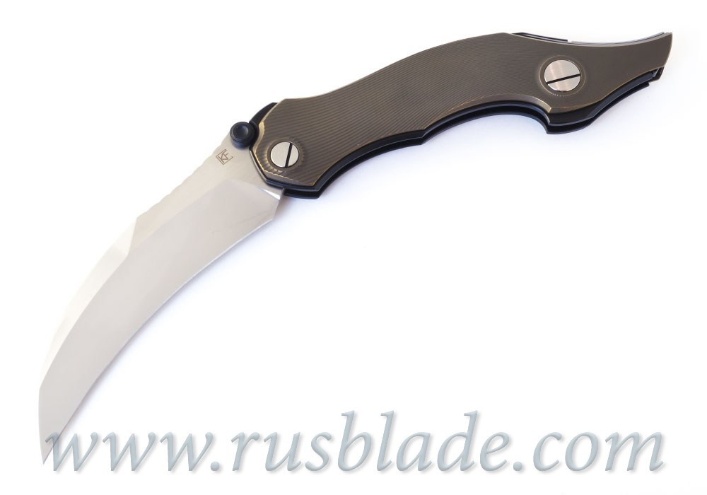 CKF Krokar Raven Ti knife (Konygin, Ti, Zirc, M390)