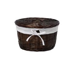 Плетеная корзина для ванной WasserKRAFT Donau WB-530-L с крышкой