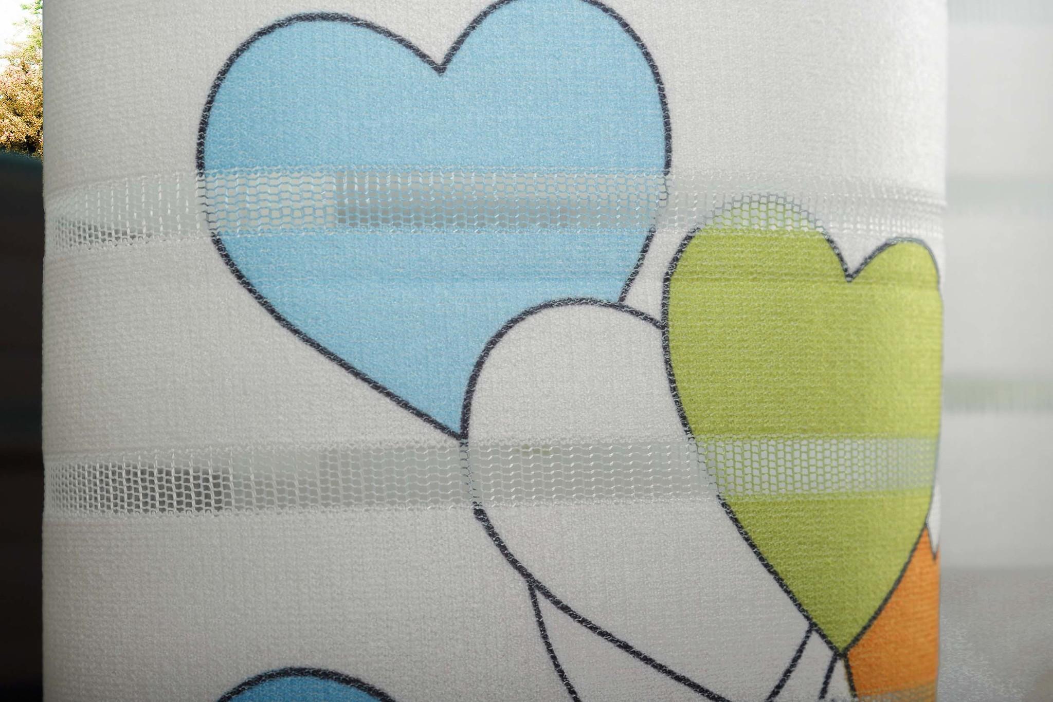 Готовая штора Веселый Мишка-2 (голубой)