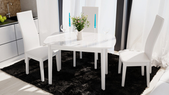 Стол Портофино 110 (Белый глянец/Стекло белое)
