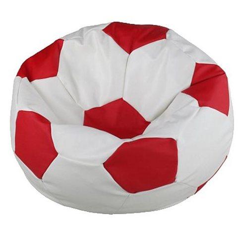 Кресло-мешок «Мяч» Бело-красный