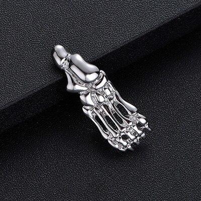 Брошь Скелет стопы (серебряный цвет)