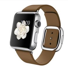 Часы Apple Watch 38мм (коричневый кожаный с современной пряжкой)
