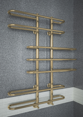 Diana Bronze - бронзовый полотенцесушитель из нержавеющей стали оригинальной формы. Бронза.