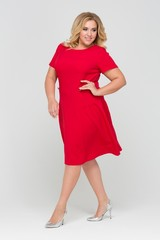 Платье Мери красный