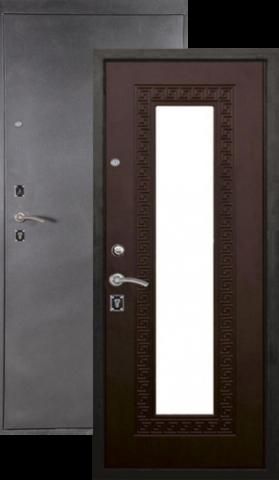 Дверь входная Легион L-1, 2 замка, 1,5 мм  металл, (серебро антик+венге)