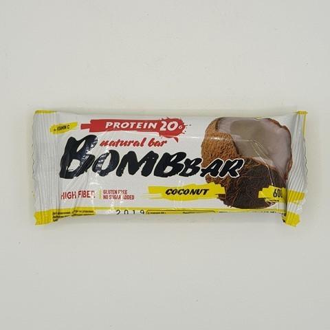 Батончик Natural Bar вкус Кокос BOMBBAR, 60 гр