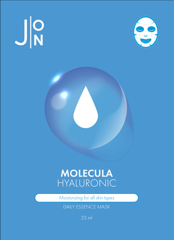 J:ON Тканевая маска для лица ГИАЛУРОНОВАЯ КИСЛОТА MOLECULA HYALURONIC DAILY ESSENCE MASK 23 мл