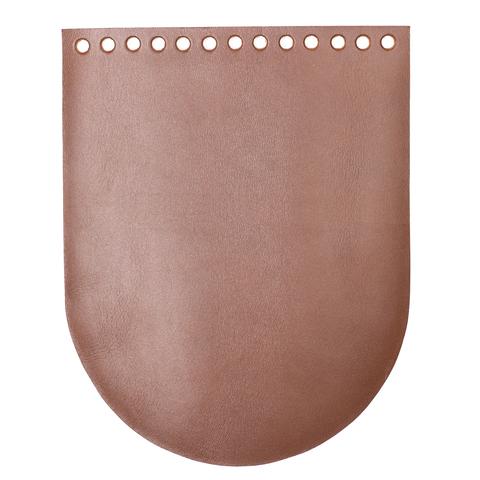 "Клапан для сумочки кожаный ""Корица"" 19,5 см на 15,5 см"