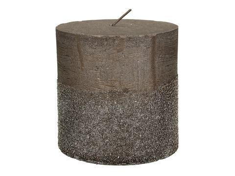 Свеча глиттерованная коричневая D10