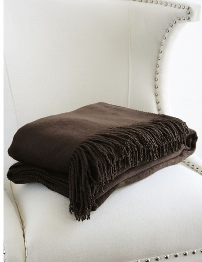 Пледы Плед шелковый 130x200 Gingerlily Silk Throw Chocolate pled-shelkovyy-gingerlily-silk-angliya.jpg