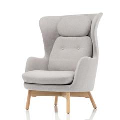Кресло с оттоманкой JH1 серое