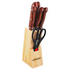 Набор ножей 7 предметов Webber ВЕ-2238 коричневая ручка