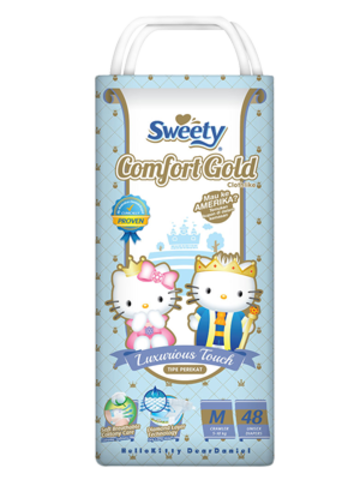 Подгузники Sweety Comfort Gold М 48 (5-10кг)