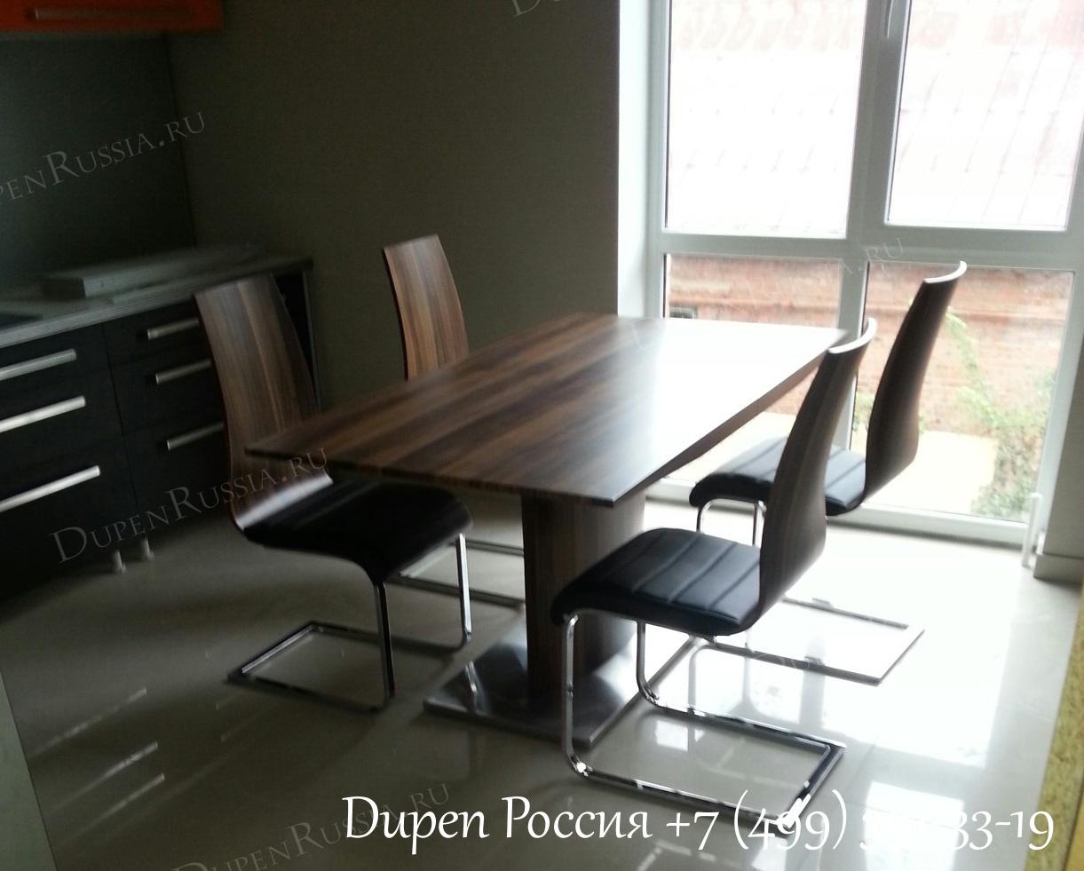 Обеденный стол DUPEN (Дюпен) DT-02 орех и Стулья DUPEN (Дюпен) CH-1004