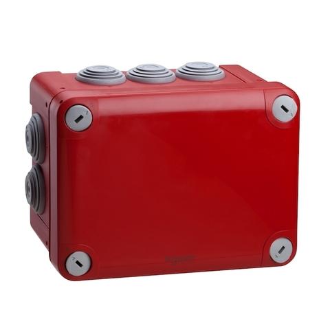 Монтажная коробка. Цвет Красный. Schneider Electric(Шнайдер электрик). Mureva styl(Мурева стайл). ENN05167