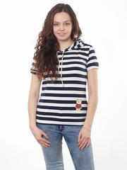 TL106-1 футболка женская, сине-белая