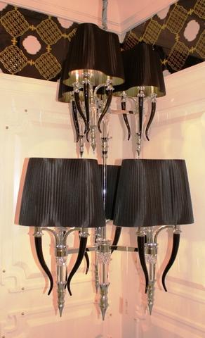 replica Visionnaire Brunilde Chandelier - Ipe cavalli  3+3 ( black + silver  )