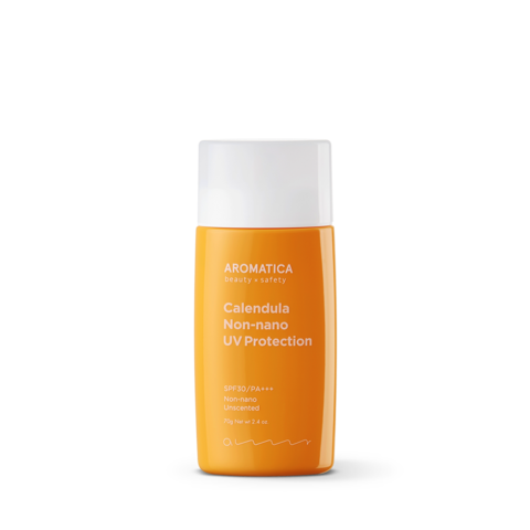 Успокаивающий гипоаллергенный солнцезащитный крем для чувствительной кожи SPF30/PA+++, 50 г / Aromatica Calendula NON-NANO UV Protection Unscented
