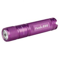 Фонарь-брелок на ключи Fenix E05 фиолетовый 85 люмен (34232)
