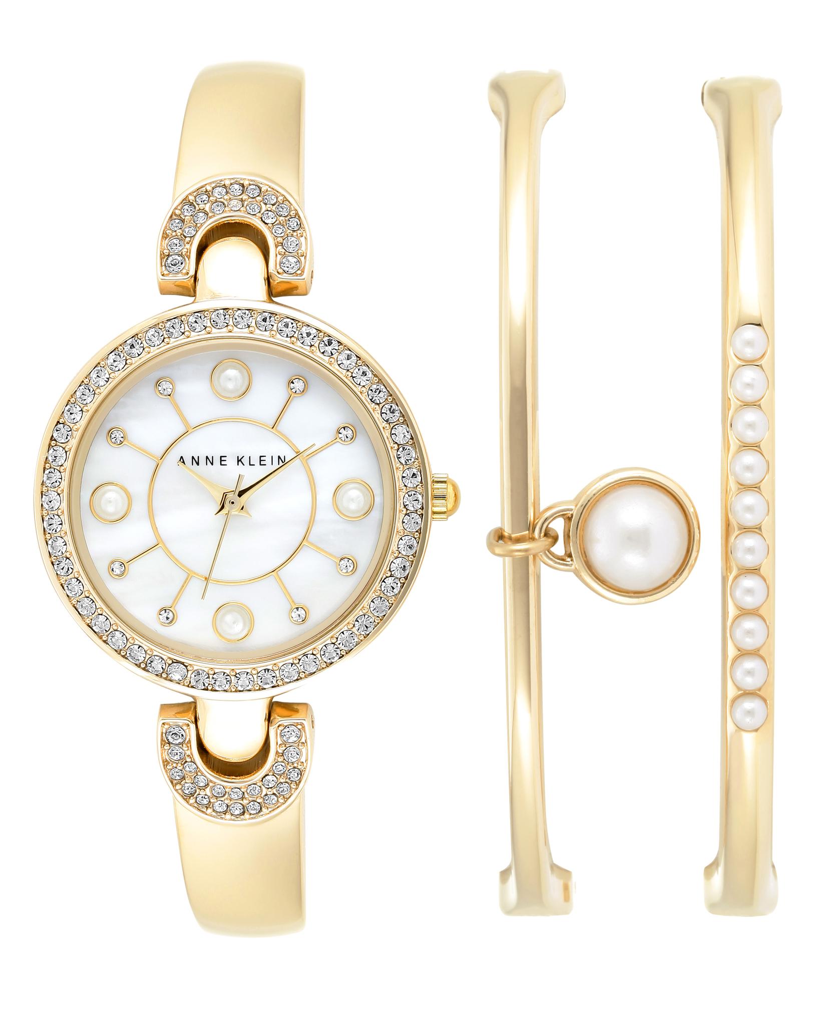 часы anne klein с браслетами женские купить в москве если