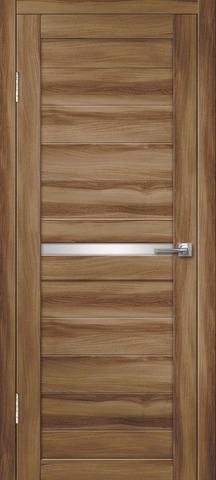 Дверь Дверная Линия Беатрис-2, стекло снег, цвет барон тёмный, остекленная